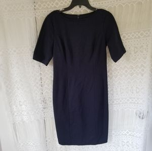 Talbots Navy Bodycon Middle Sleeved Dress Size 2